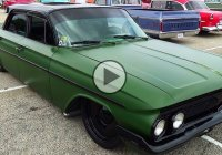 """Apocalypse 61"", satin green 1961 Chevy Bel Air at the 2015 NSRA Street Rod Nationals!"