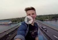 This train surfing teenager is taking crazy to a whole new level with his dangerous hobby!