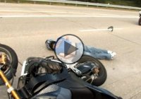 Stunt Rider Passes Out During A Wheelie!