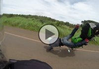This Is Insane – Kawasaki Z750 Stunt Gone Wrong!!