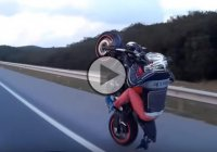 Know Your Limits – Hilarious Yamaha MT07 Wheelie Fail!