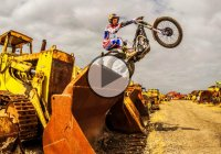 One Man's Trash Is Another Man's Treasure – Moto Trials Riding In A Scrapyard!!