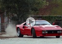 Ferrari 288 GTO recklessly driving through the British countryside!