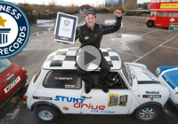 Moffatt lands into the Guinness World Records with the tightest reverse parallel park!