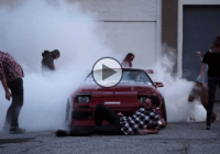 RX7 burnout in a Harlem Shake Hoonigan style!