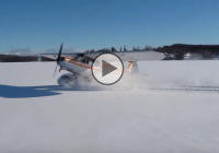Unbelievable: Airplane drifting in the snow!