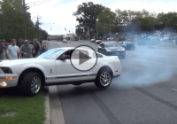 When a Mustang GT500 driver pushes too much horsepower