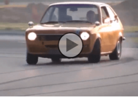 Old-school sleeper BMW M60-powered Opel Kadett drifted to the bone!