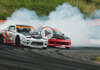 Epic action at British Drift Championship at Teesside!