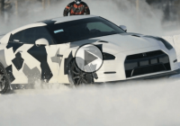 Stylish Nissan GT-R is hitting ski slopes with power!