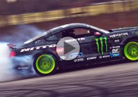 Bringing insanity: Vaughn Gittin Jr. and the 2016 Mustang RTR getting wild at SEMA!