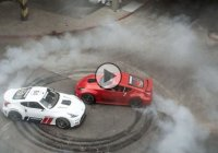 Forsberg and Tuerck unleash their 1000 HP Nissan 370Zs in an abandoned mall!