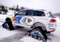 Volkswagen Snowareg dominates snow-covered areas with style!