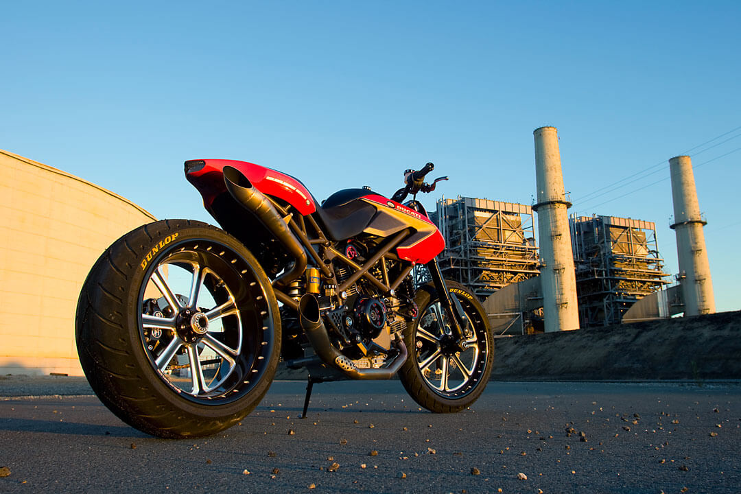 custom stylish ducati hypermotard by roland sands design. Black Bedroom Furniture Sets. Home Design Ideas