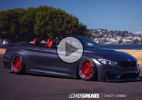 The extraordinary BMW M4 fully bagged convertible!