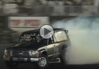 Tuned Nissan Patrol destroying its tires at MEMTS!