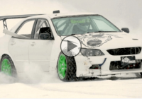 Thrilling: 500HP rally car drifting on an ice lake!