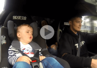 Father takes his 17 months old son for a ride in a 600HP Toyota Supra