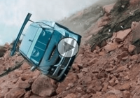 Near death experience at Pikes Peak: Fast race car sails off cliff !!!