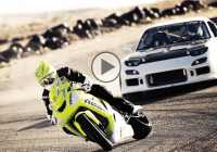 Kawasaki vs Mazda RX-7 in a wicked drift battle!!!