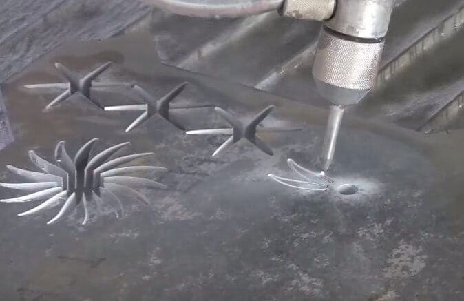 This is WaterJet machine, innovative cutting technology!!!