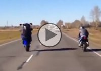 Bike Newbie – Rider Fails Hilariously While Trying To Do A Wheelie!