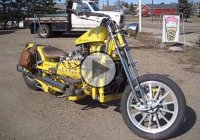 1949 Ford Flathead V8 Custom Motorcycle!
