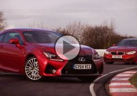Lexus RC F in a drag and drift battle with BMW M4!