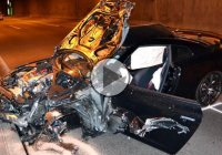 Nissan GTR crashes while drifting!