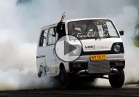 Rotary powered Suzuki van and the burnout of a lifetime!