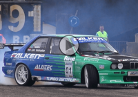 Supra powered BMW E30 M3 doing burnouts!!!