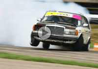 Unique diesel powered Mercedes W123 – one hell of a drifter!