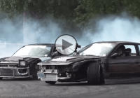 Tandem of Die with lots of tire smoke and drifts!