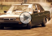 Slaying tires with Toyota Cressida in slow motion!