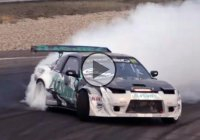 VR38DETT powered Nissan 240SX burning rubber with Francesco Conti!