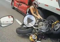 Miraculous Motorcycle ACCIDENT – Bike VS Truck!!
