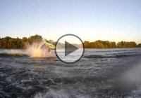 Jet Skier Crashes Head On Into A Boat.. Ouch!!