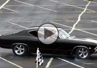 1968 Chevrolet Chevelle SS hits a concrete barrier after a cool ride!