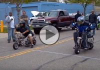 Utterly Ridiculous Drag Race With Super Fast Mini Bikes!
