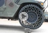 Airless Tires & Bulletproof For The Army – The Honeycomb Tire!