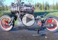 Black Pearl – A Steam Powered Motorcycle!!