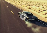 Blown 1968 Dodge Charger driving through the Mojave Desert!