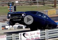 Single turbo 6.0 LSX 1972 Chevy Nova on drag radials!