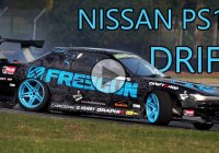 Mike Kauffmann drifting his awesome Nissan PS13 Freegun!