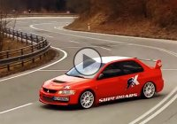 Mitsubishi Lancer Evolution – 800 HP drifting uphill!