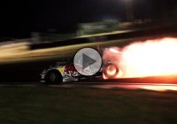 Red Bull RX7 spit flames with no exhaust – Mad Mike only!