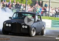 Rolls Royce drift car does the classiest sideways shenanigans!
