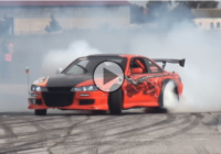 Supercharged BMW V8 powered Nissan S14 – drifting insanity!
