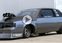 526ci Hemi blown Buick Regal gives an earful down the drag strip!