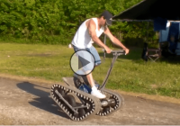 Gas powered Segway on tracks – Let the journey begin